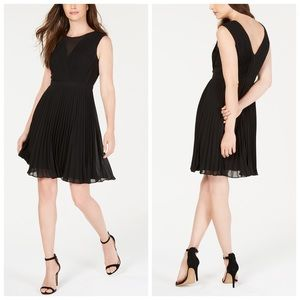 No-wrinkle Pleated Fit & Flare Dress. Anne Klein